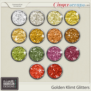 Golden Klimt Glitters by Aimee Harrison