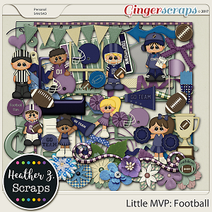 Little MVP: Football ELEMENTS by Heather Z Scraps
