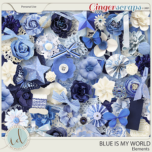 Blue Is My World Elements by Ilonka's Designs