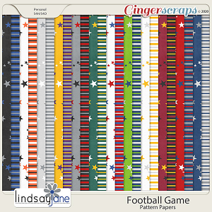 Football Game Pattern Papers by Lindsay Jane
