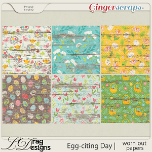 Egg-citing Day:Worn Out Papers by LDragDesigns