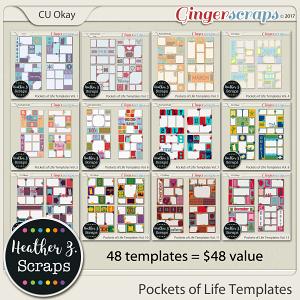 Pockets of Life Templates BUNDLE by Heather Z Scraps