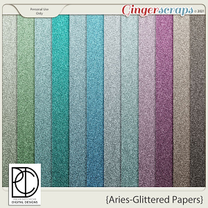 Aries (Glittered Papers)