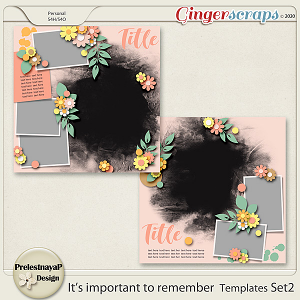 It's important to remember Templates Set2