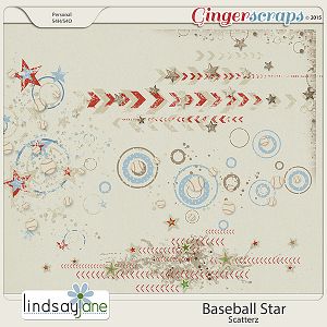 Baseball Star Scatterz by Lindsay Jane