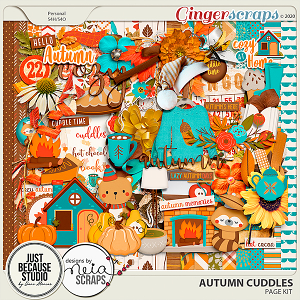 Autumn Cuddles Page Kit by JB Studio and Neia Scraps