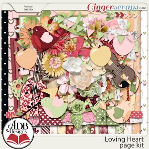 Loving Heart Page Kit by ADB Designs
