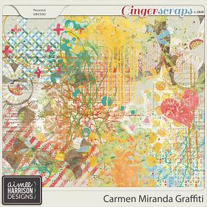 Carmen Miranda Graffiti by Aimee Harrison