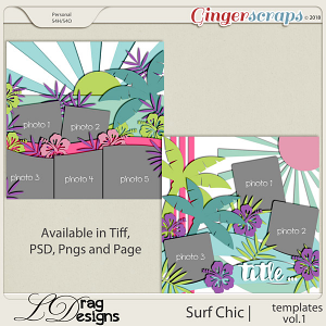 Surf Chic: Templates Vol. 1 by LDragDesigns