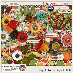 Crisp Autumn Days Full Kit by Trixie Scraps Designs