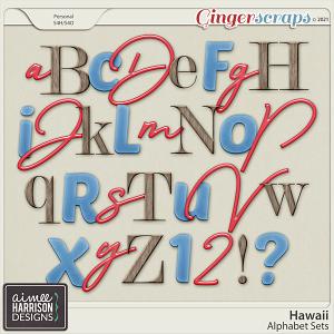 Hawaii Alpha Sets by Aimee Harrison