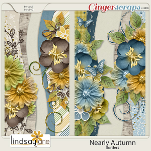 Nearly Autumn Borders by Lindsay Jane