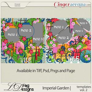 Imperial Garden: Templates Vol. 2 by LDragDesigns