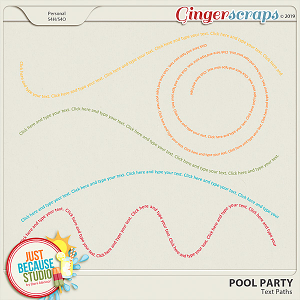 Pool Party Text Paths by JB Studio