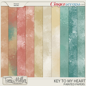 Key to my Heart Painted Papers by Tami Miller Designs