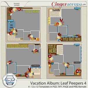 Vacation Album: Leaf Peepers 4 Templates by Miss Fish