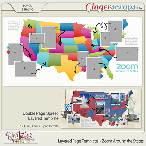 Layered Page Templates ~ Zoom Around the States