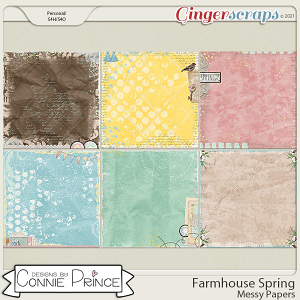 Farmhouse Spring - Messy Papers by Connie Prince