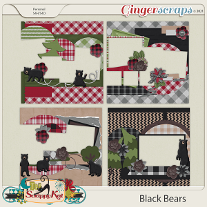 Black Bears Quick Pages by The Scrappy Kat