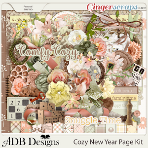 Cozy New Year Page Kit by ADB Designs