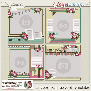 Large & In Charge vol 6 Template Pack by Trixie Scraps Designs