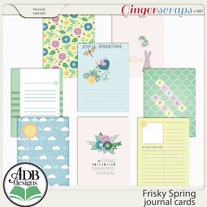 Frisky Spring Journal Cards by ADB Designs