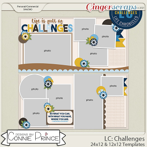 Life Chronicled: Challenges -  24x12 or 12x12 Templates (CU Ok) by Connie Prince