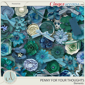 Penny For Your Thoughts Elements by Ilonka's Designs