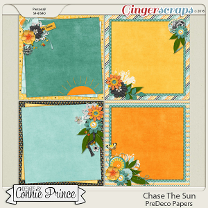 Chase The Sun - PreDeco Papers