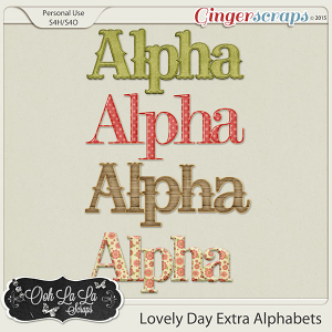 Lovely Day Extra Alphabets