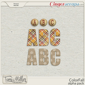 ColorFall Alpha Pack by Tami Miller Designs