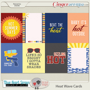 Heat Wave Journal Cards by Luv Ewe Designs and Blue Heart Scraps