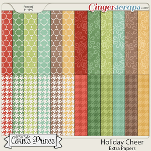 Holiday Cheer - Extra Papers by Connie Prince