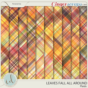 Leaves Fall All Around Plaids by Ilonka's Designs