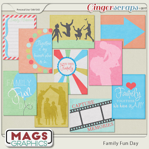 Family Fun Day JOURNAL CARDS by MagsGraphics