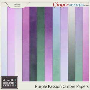 Purple Passion Ombre Papers by Aimee Harrison