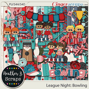 League Night: Bowling KIT by Heather Z Scraps