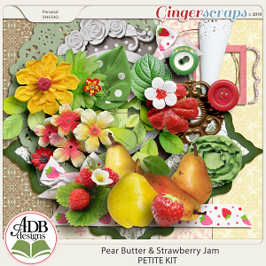 Pear Butter & Strawberry Jam Mini Kit by ADB Designs