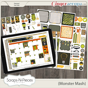 Monster Mash Planner Pieces by Scraps N Pieces