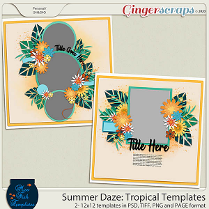 Summer Daze: Tropical Templates by Miss Fish
