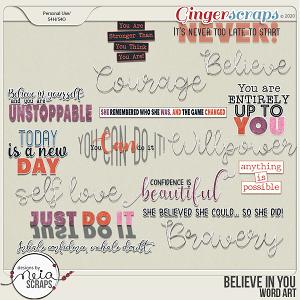 Believe in You - Wordart - by Neia Scraps