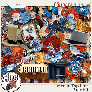 Men in Top Hats Page Kit by ADB Designs