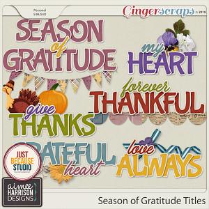 Season of Gratitude Titles by Aimee Harrison and JB Studio