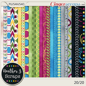 20/20 PAPERS by Heather Z Scraps