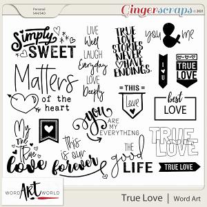 True Love Word Art
