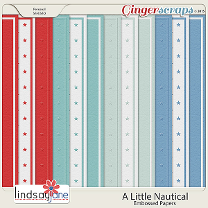 A Little Nautical Embossed Papers by Lindsay Jane
