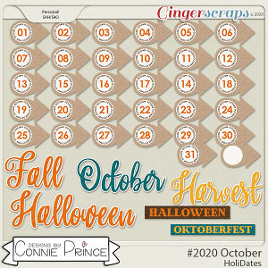 #2020 October - HoliDates by Connie Prince