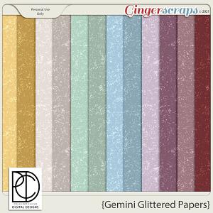Gemini (Glittered Papers)