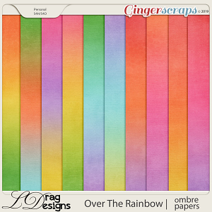 Over The Rainbow: Ombre Papers by LDragDesigns
