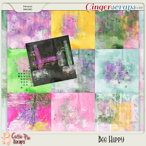 Bee Happy-Painted Papers